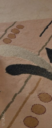 Толстый шерстяной ковёр 4,5х3,5м после химчистки. Черновцы. фото 1