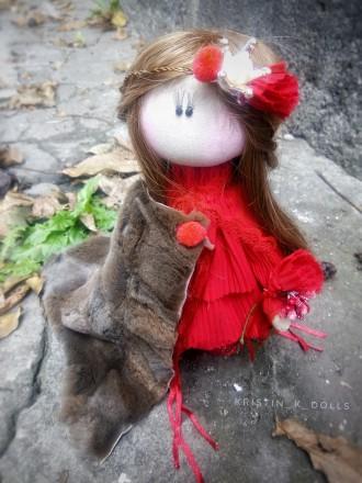 Текстильная кукла принцесса Николь. Васильковка. фото 1