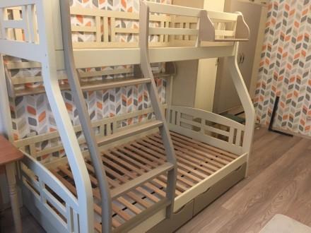 Детская 2ярусная кровать СВЕТЛАНА. Ровно. фото 1