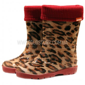 Детские резиновые сапожки GLO-STORY (Код: 401 леопард). Першотравенск. фото 1