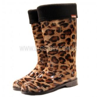 Детские высокие резиновые сапожки GLO-STORY (Код: 201 леопард). Першотравенск. фото 1