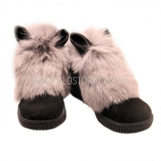 Замшевые сапожки для девочки с ушками GLO-STORY (Код: 159). Першотравенск. фото 1