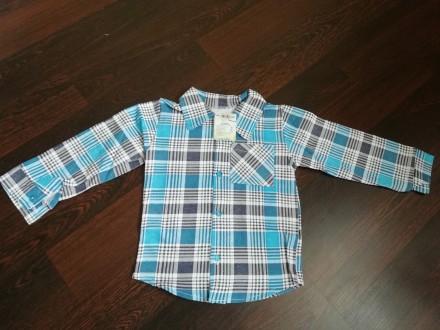 Тепленькая рубашка для мальчика на флисе. Мирноград (Димитров). фото 1