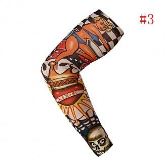Рукава тату съемные длиной 38 см. Хорошо тянутся и принимают форму руки.  Нару. Мариуполь, Донецкая область. фото 4