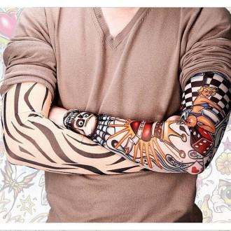 Рукава тату съемные длиной 38 см. Хорошо тянутся и принимают форму руки.  Нару. Мариуполь, Донецкая область. фото 3
