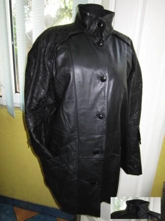 Большая стильная женская кожаная куртка NORMA. Германия. Лот 248 564a514c790f3
