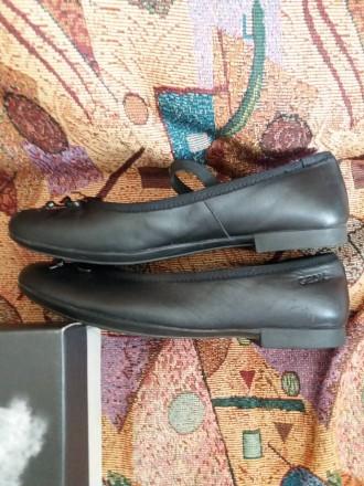 Женские классические кожаные туфли  geox Respira чёрные 37 размер. Киев, Киевская область. фото 4