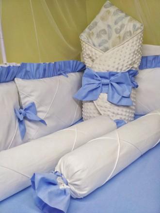 Защита комплект в кроватку. Киев. фото 1