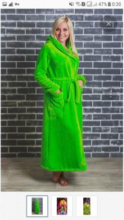 Халат женский длинный с капюшоном. Одесса. фото 1