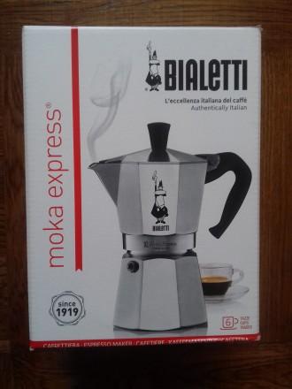 Итальянская гейзерная кофеварка Bialetti Moka Express 6cups. Черкассы. фото 1