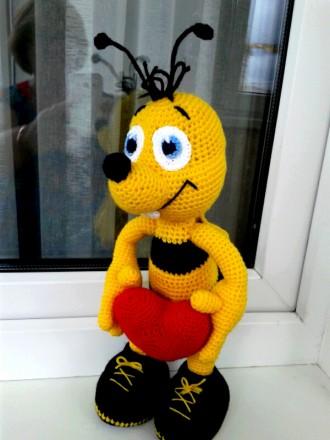 Мягкая игрушка Пчелка Майя. Подарок для любителя пчел. Игрушка, подарок ребенку. Киев. фото 1