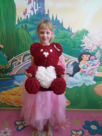 Мишки и Зайчики из 3D роз с ароматом цветов - лучший подарок!. Киев. фото 1