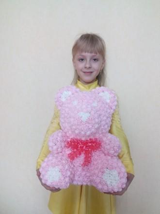 Эксклюзивные Мишки и Зайчики из более 1000 латексных 3D розочек и приятным арома. Киев, Киевская область. фото 5