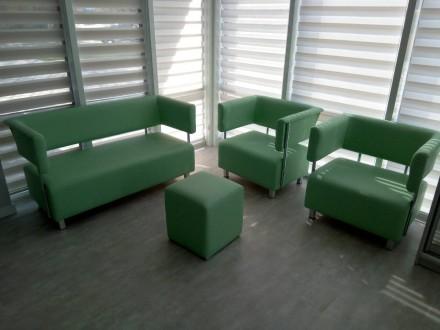 Диваны, кресла, пуфы для офиса, кабинета, приемной, холла, коридора.. Киев. фото 1