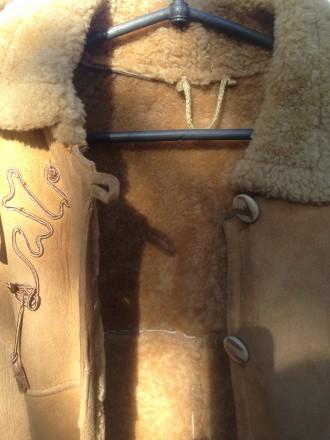 Продам дубленку детскую с натуральной овчины. Капюшен,отороченный натуральным ме. Днепр. фото 1