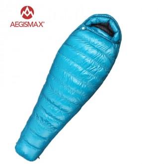 Пуховый спальный мешок AEGISMAX M3 Комфорт: 0 -5 ° С Зимний спальный мешок. Львов. фото 1