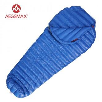 Пуховый спальный мешок AEGISMAX M2 трехсезонный спальный мешок. Вес 600 грамм.. Львов. фото 1