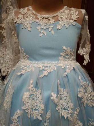 Платье кружевное, новое, шикарное на 1-2 года.. Гайсин. фото 1