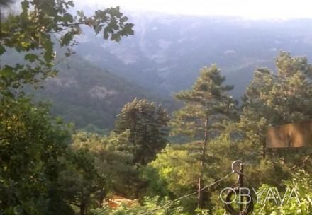 Продается участок 7сот. с ведущимся строительством шале в горах. С террас, балко. Ялта, Ялта, Крым. фото 1
