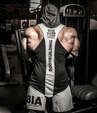 Майка Безрукавка с капюшоном Bodybuilding. Львов. фото 1