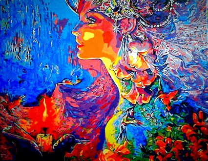 Картина на холсте акриловыми красками. Дніпро. фото 1