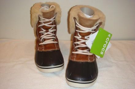 Зимние ботинки crocs Women´s AllCast Luxe Duck Boot     Оригинал из Америки ра. Киев, Киевская область. фото 5
