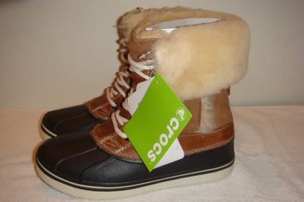 Зимние ботинки crocs Women´s AllCast Luxe Duck Boot     Оригинал из Америки ра. Киев, Киевская область. фото 4