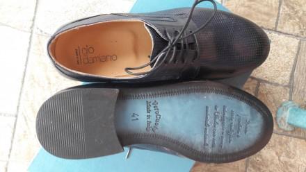 Нові шкіряні чоловічі туфлі.. колір мокрий синій.. дуже зручні.. не підійшов роз. Умань, Черкасская область. фото 7