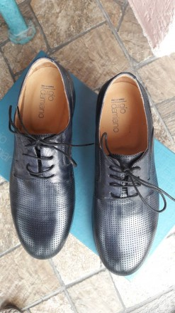 Нові шкіряні чоловічі туфлі.. колір мокрий синій.. дуже зручні.. не підійшов роз. Умань, Черкасская область. фото 8