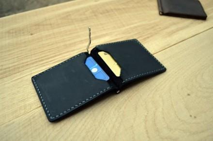 Чорний зажим для грошей із внутрішніми кишенями Mr. Falke. Александровка. фото 1