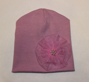 шапочка бини для маленькой модницы от 2 до 7 лет. Бахмач. фото 1
