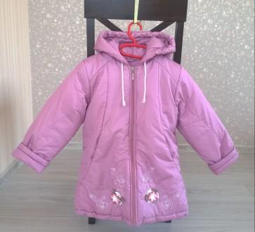 Продається зимова рожева курточка для дівчинки!. Львов. фото 1