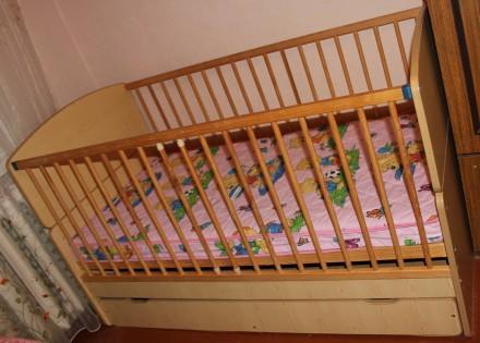 Ліжечко, ліжко, кроватка, кровать-трансформер з матрацом до 10 років. Чернигов. фото 1