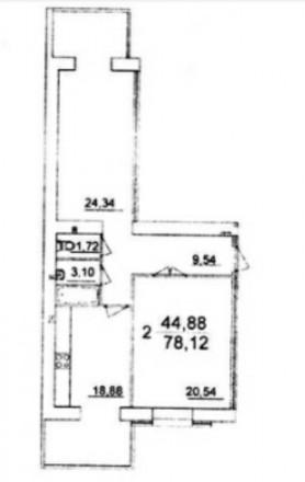 2-комнатная квартира, 78 кв.м. Винница. фото 1