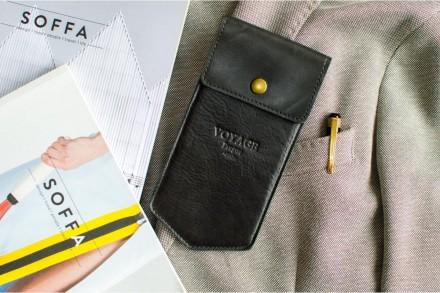 Черный кожаный пенал. Киев. фото 1