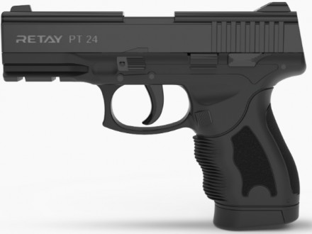 Пистолет стартовый Retay PT24 кал. 9 мм. Цвет - black. Киев. фото 1