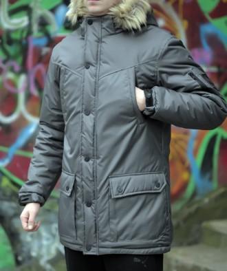 Теплая, стильная мужская зимняя парка/куртка - Оплата при ПОЛУЧЕНИИ!. Кременчуг. фото 1