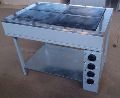 Плита кухонная промышленная электрическая ЭПК-4Б. Днепр. фото 1