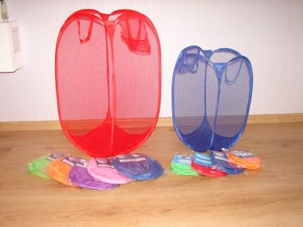 Увеличенного размера складная сетка корзина для игрушек и белья. Сумы. фото 1