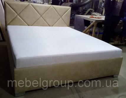 Двуспальная кровать с матрасом 160х200, мягкая кровать с подъемным механизмом. Киев. фото 1