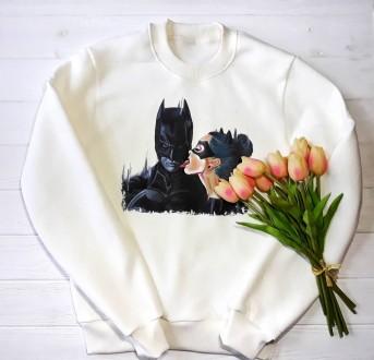 Свитшот, футболка с бэтменом и женщиной кошкой цвета в наличии. Краматорск. фото 1