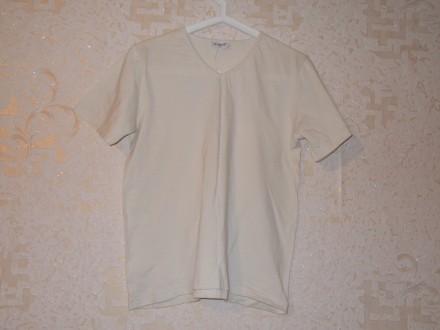 Бежевая футболка x-mail с коротким рукавом. Мелітополь. фото 1