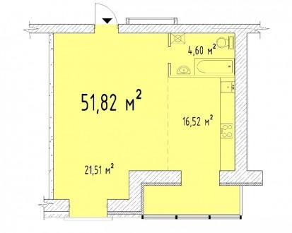 Продається сучасна квартира-студія в тихому центрі міста. Черкассы. фото 1