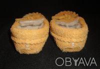 Пинетки-туфельки 100% натуральные: верх - замша, внутри шерсть. Очень теплые, мя. Сумы, Сумская область. фото 4