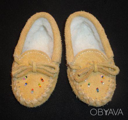 Пинетки-туфельки 100% натуральные: верх - замша, внутри шерсть. Очень теплые, мя. Сумы, Сумская область. фото 1