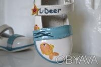 Туфли для Вашей принцессы ТМ B&G. Белые с рисунком. Материал верха- искусственна. Сумы, Сумская область. фото 7
