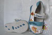 Туфли для Вашей принцессы ТМ B&G. Белые с рисунком. Материал верха- искусственна. Сумы, Сумская область. фото 5
