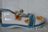 Туфли для Вашей принцессы ТМ B&G. Белые с рисунком. Материал верха- искусственна. Сумы, Сумская область. фото 6