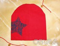Трикотажная шапочка, двойная. 100 % хлопок. Высота 20,5 см Ширина 19 см Подо. Белая Церковь, Киевская область. фото 9