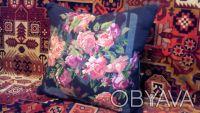 Декоративные подушки. Розы. Рисунок-ручная вышивка.. Киев. фото 1